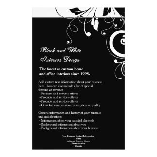 Black and White Reverse Swirl Flyer or Program