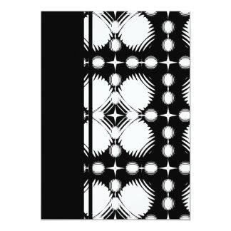 Black and White Ripples Big 13 Cm X 18 Cm Invitation Card