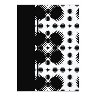 Black and White Ripples Big Inverted 13 Cm X 18 Cm Invitation Card