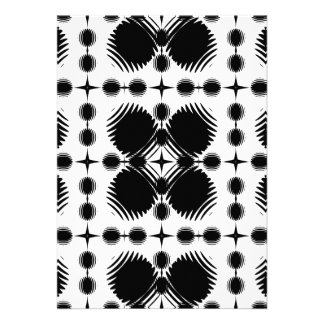 Black and White Ripples Big Inverted Personalized Invitation