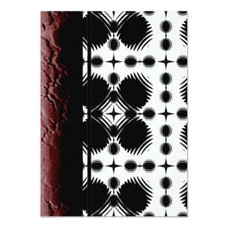 Black and White Ripples Big Inverted Custom Invites