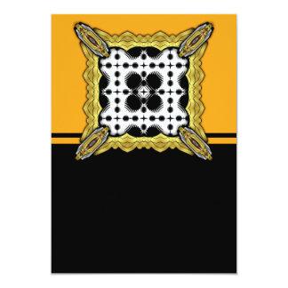Black and White Ripples Big Inverted Custom Invitations