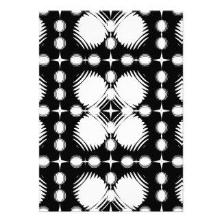 Black and White Ripples Big Custom Invitations