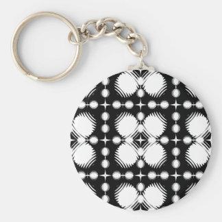 Black and White Ripples Big Key Chains
