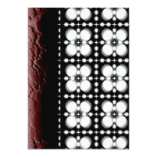 Black and White Ripples Small 13 Cm X 18 Cm Invitation Card