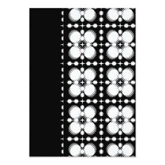 Black and White Ripples Small 13 Cm X 18 Cm Invitation Card