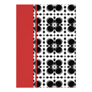 Black and White Ripples Small Inverted Invitations