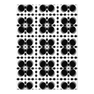 Black and White Ripples Small Inverted Invite