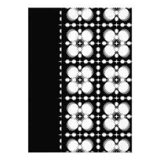 Black and White Ripples Small Personalized Invitations