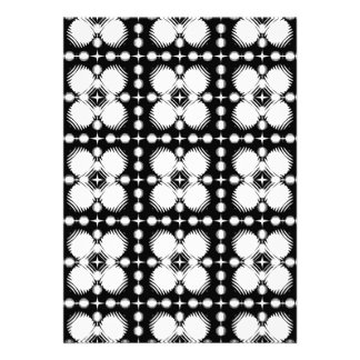 Black and White Ripples Small Invites