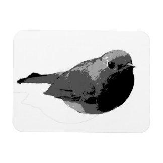 Black and white robin magnet