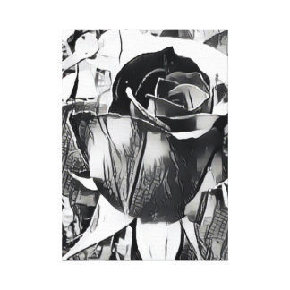 "Black and White Rose (14"" x 19.6"", 1.5"", Single) Canvas Print"