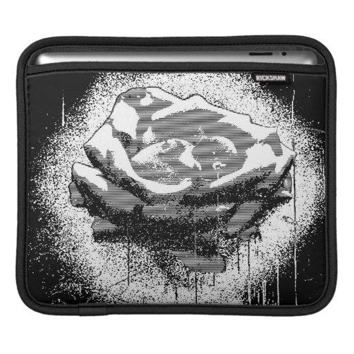 Black And White Rose Fine Art iPad Sleeve