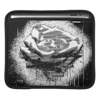 Black And White Rose Fine Art Sleeve For iPads