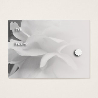 Black and White Rose Petals Gift Tags