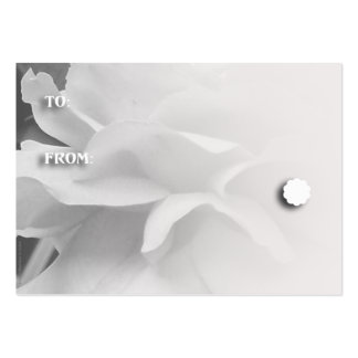 Black and White Rose Petals Gift Tags Pack Of Chubby Business Cards