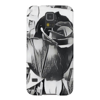Black and White Rose Samsung Galaxy S5 Phone Case