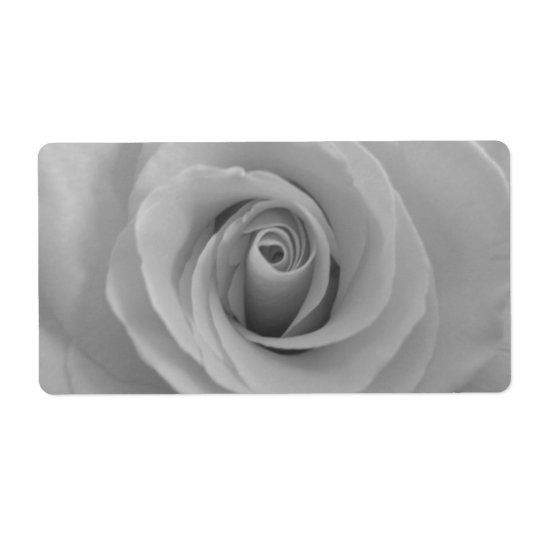 Black and white rose shipping label