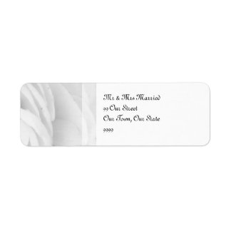 Black and White Rose wedding Return Address Label