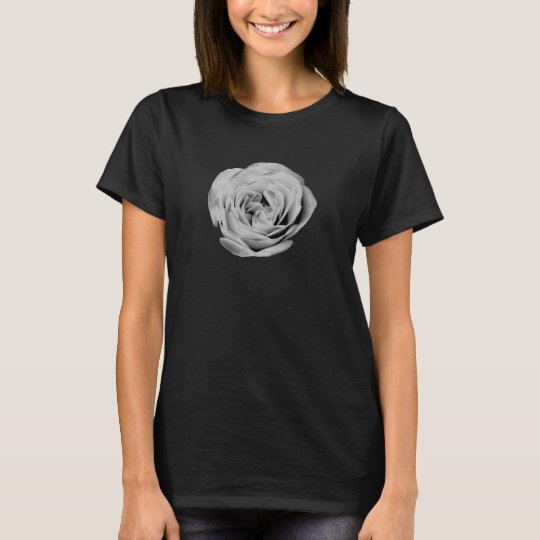 Black and White Rose Women's T-Shirt