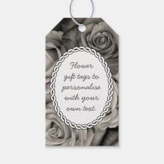 Black and White Roses Gift Tags