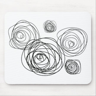 Black And White Roses Mouse Pad
