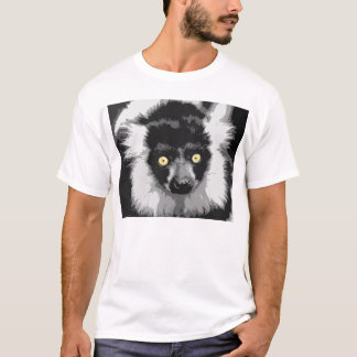 Black and white ruffed lemur T-shirt
