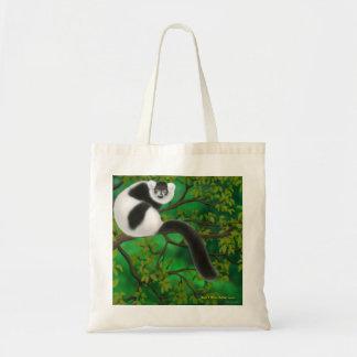 Black and White Ruffed Lemur Tote Bag