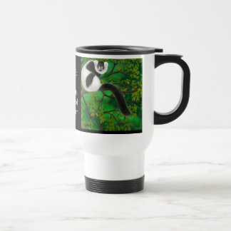 Black and White Ruffed Lemur Travel Mug
