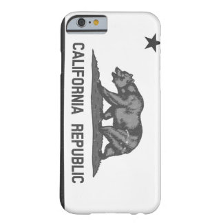 Black and White Rugged California Republic Barely There iPhone 6 Case