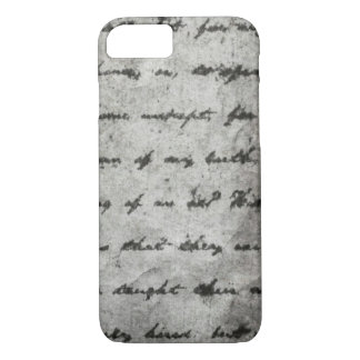 Black and White Rustic Cursive Text Writing Case
