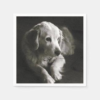 Black and White Sad Dog | Napkin Disposable Napkin