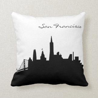 Black and White San Francisco Skyline Cushion