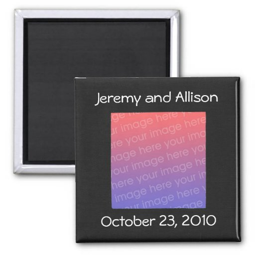 Black and White Save the date magnets with photo