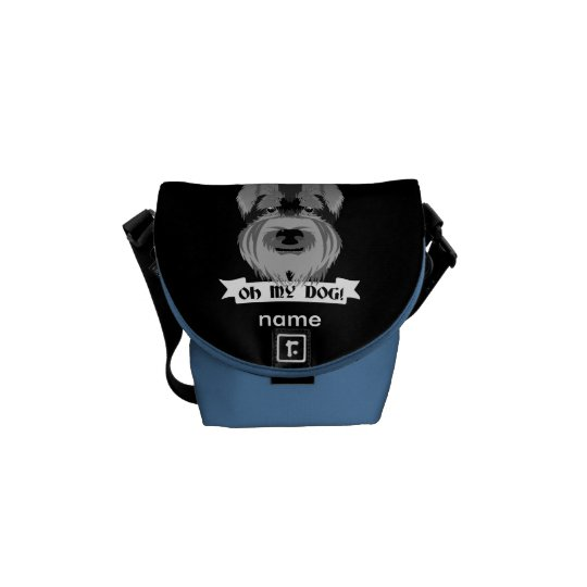 Black and White Schnauzer Oh My Dog Commuter Bag