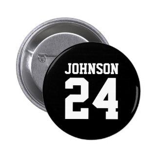 Black and White School Spirit Personalized Team 6 Cm Round Badge