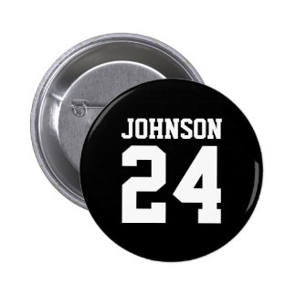 Black and White School Spirit Personalized Team Pins