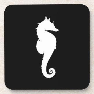 Black and White Seahorse Coaster