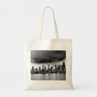 Black and white seattle canvas bag