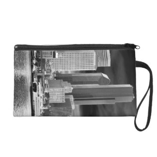 Black and White Seattle Clutch Wristlet Purses