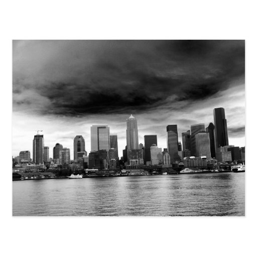 Black and white seattle postcard