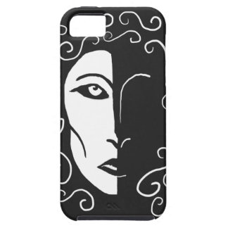 Black and White Shadowy Woman iPhone 5 Case