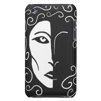 Black and White Shadowy Woman iPod Touch Case