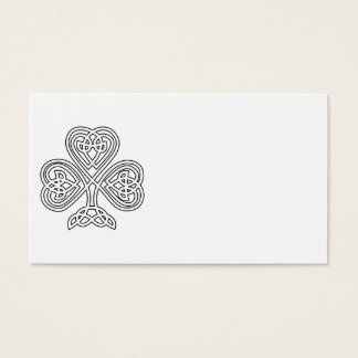 Black and White Shamrock Business Card