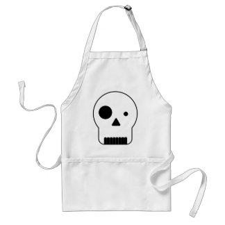 Black and white shape skull.ai adult apron