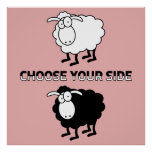 Black and white sheep posters