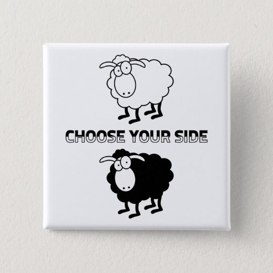 Black and white sheeps Motivational Button