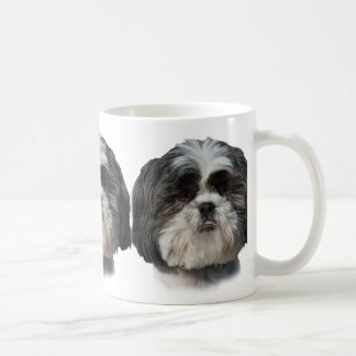 Black and White Shih Tzu Dog Coffee Mug