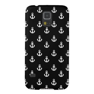 Black and White Ships Anchors Pattern Galaxy S5 Cover