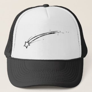 Black and White Shooting Star Trucker Hat